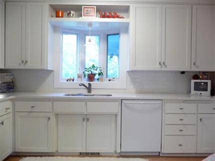 a simplified kitchen
